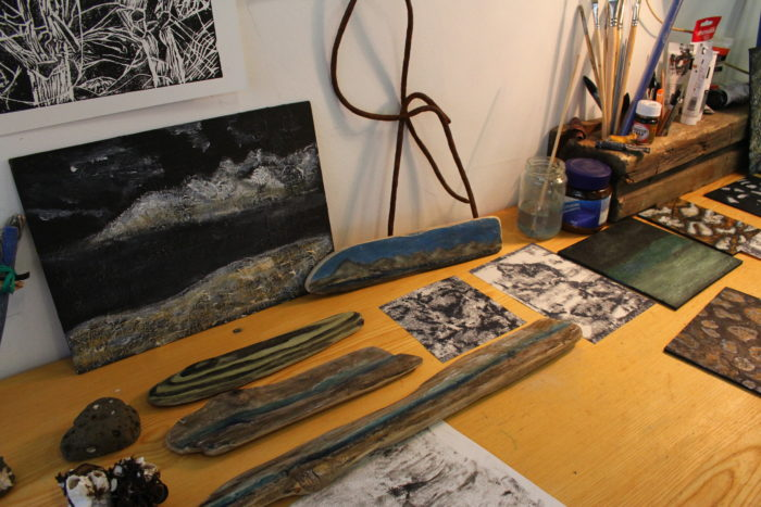 Driftwood Artwork by Susan Wood, March 2017