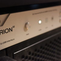 Antelope Orion USB interface with 32 inputs and outputs all tied to the console